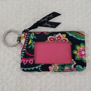 Vera Bradley Zip ID Key Ring Case